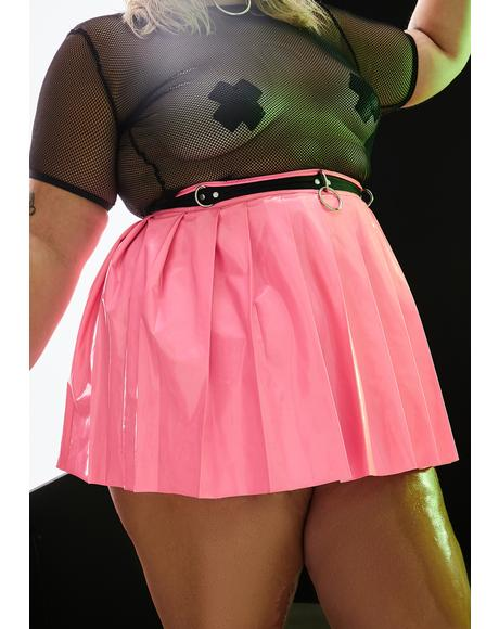Candy Ace Of Spade Pleated Mini Skirt