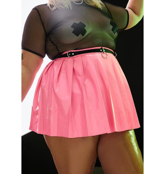 Current Mood Candy Ace Of Spade Pleated Mini Skirt