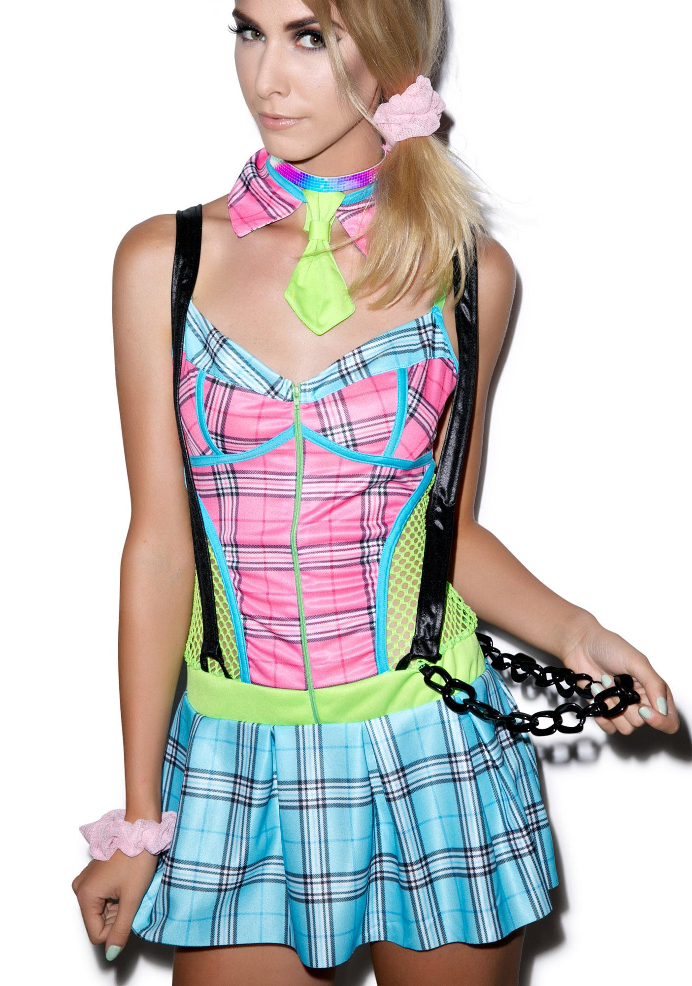 Day Glow School Girl Set