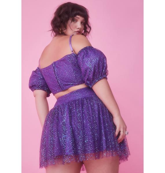 Sugar Thrillz Infinite Broken Spell Glitter Skirt