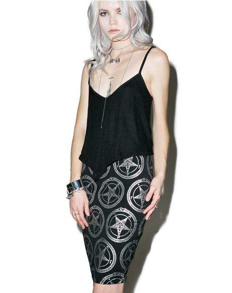 Baphomet Pencil Skirt
