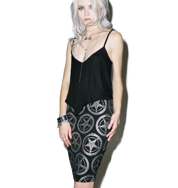 Killstar Baphomet Pencil Skirt