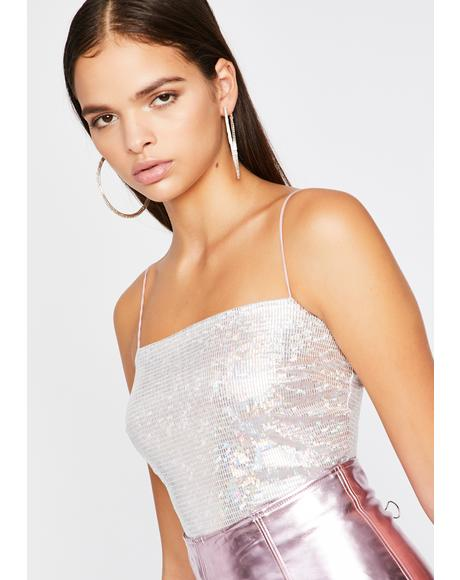Secret Starlight Holographic Cami