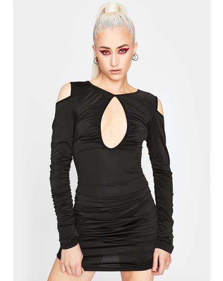 Too Confident Lace-Up Dress