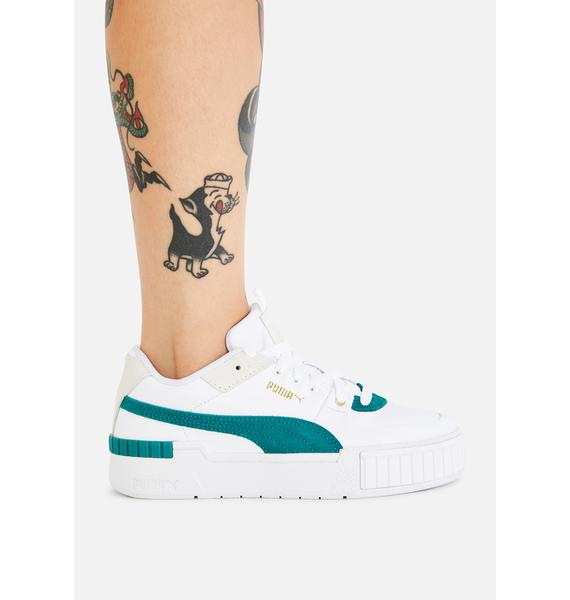 PUMA Teal Cali Sport Heritage Sneakers