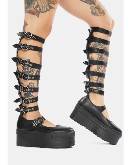 Rising Platform Gladiator Sandals