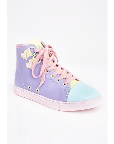 Pastel High Top Sneakers