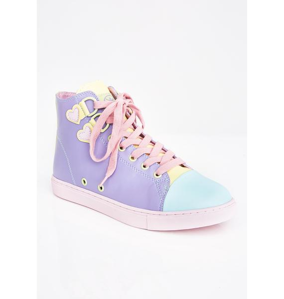 Strange Cvlt Pastel High Top Sneakers