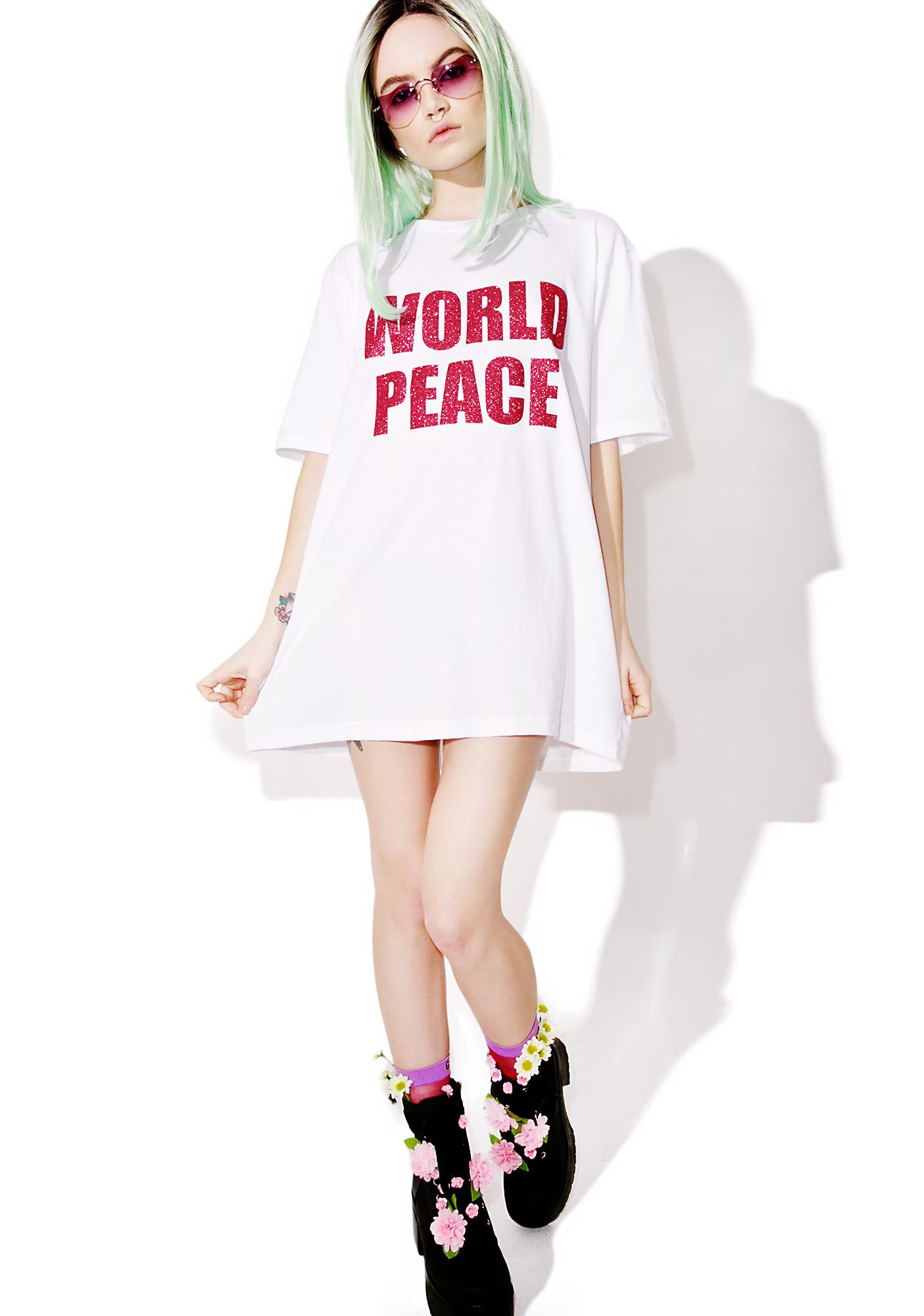 Local Heroes World Peace Oversized Tee