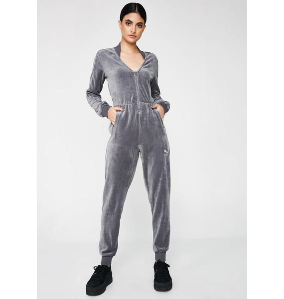 PUMA Quiet Shade Velour Jumpsuit