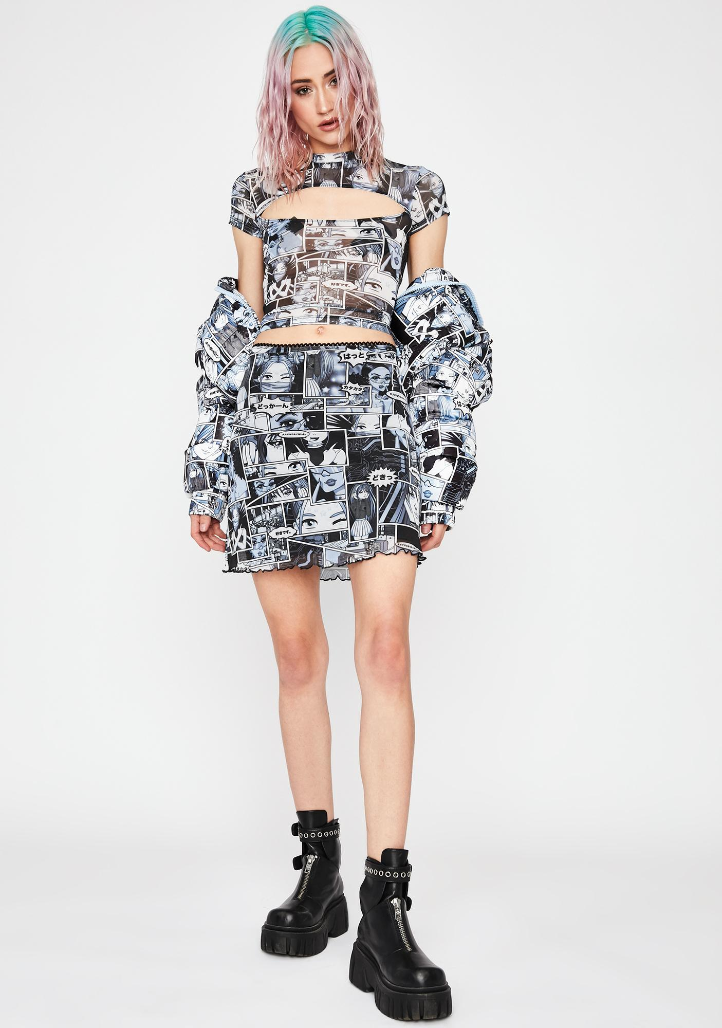 Current Mood Misfit Memoirs Cut Out Top
