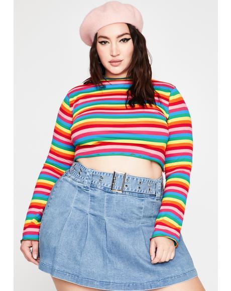 Baby Follow My Rainbow Crop Top