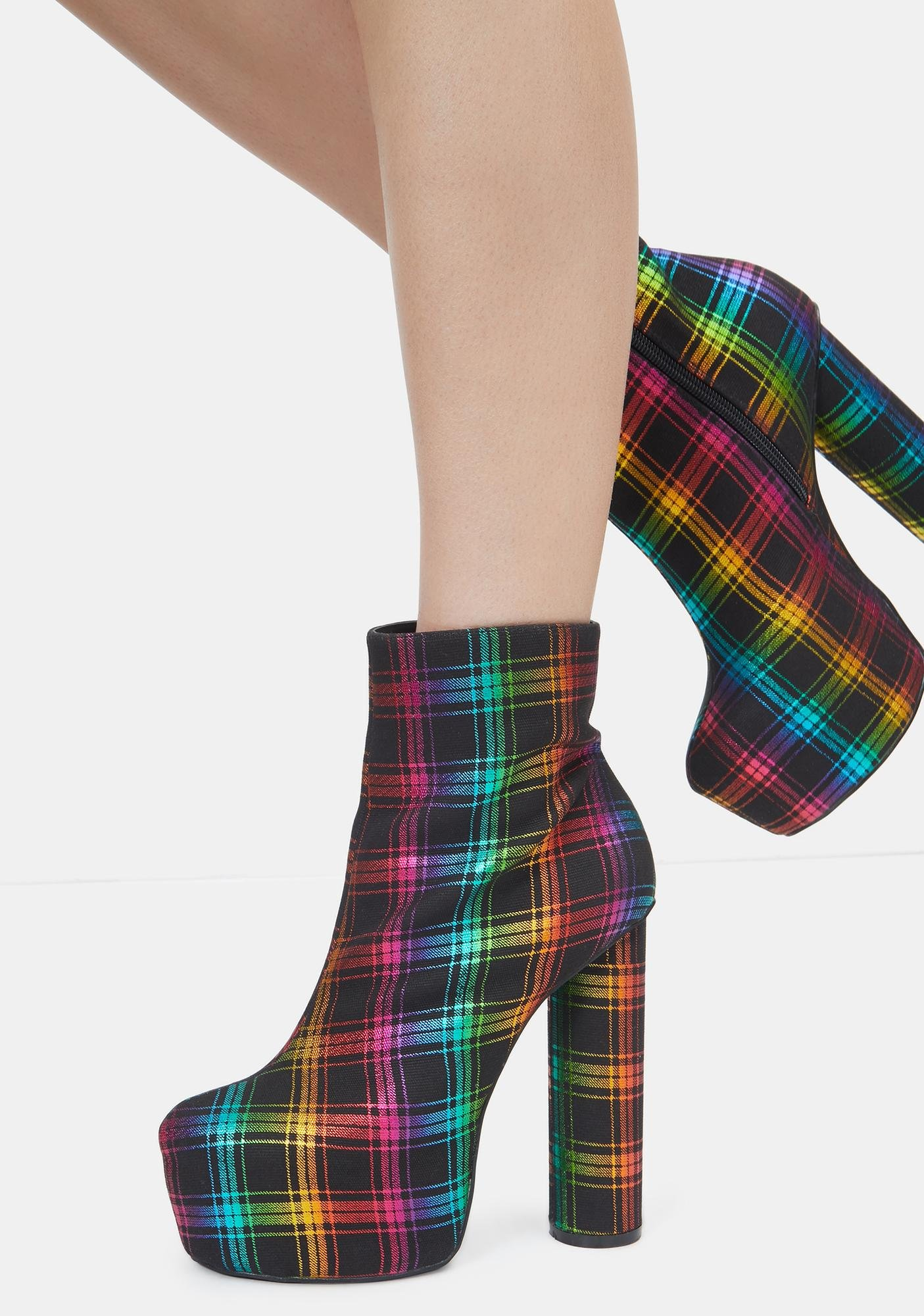 Lemon Drop by Privileged Rainbow Questar Ankle Boots