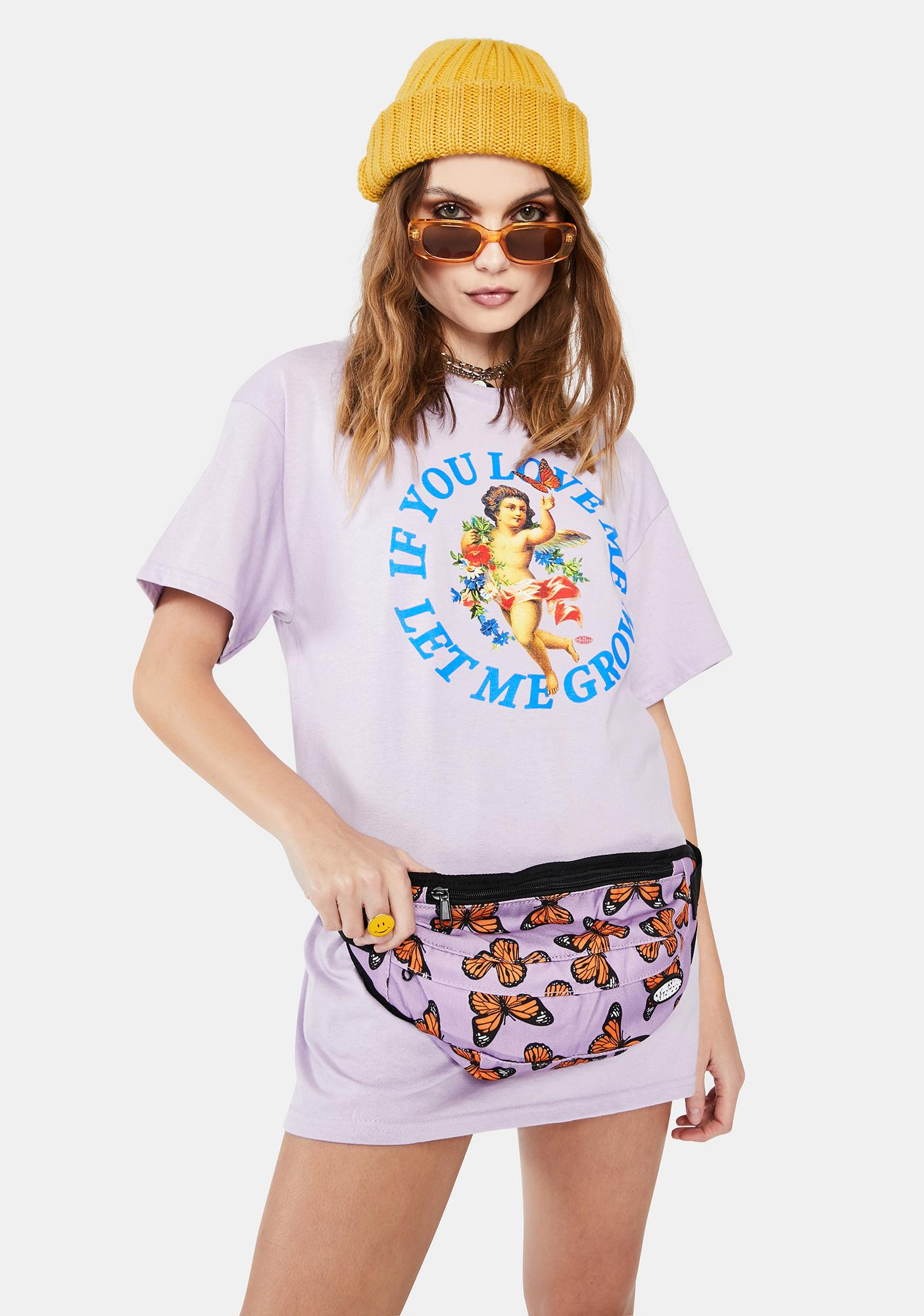 Petals and Peacocks Butterflying Fanny Pack