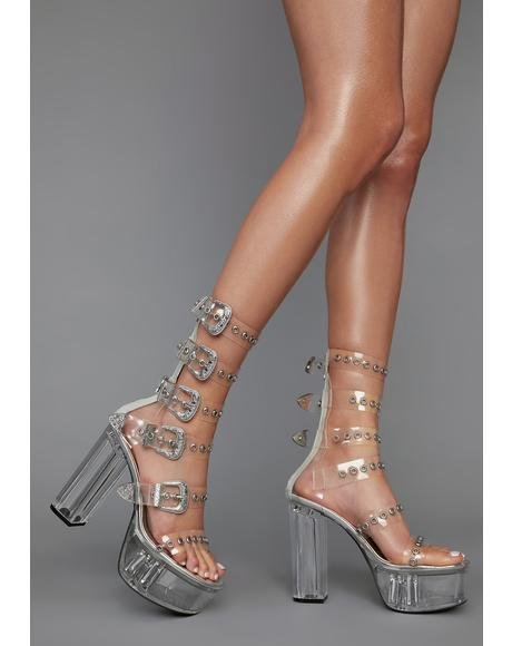 Stomp It Up Buckle Platform Heels