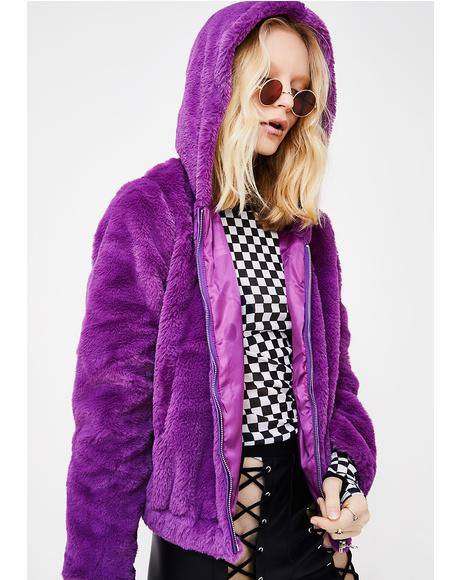 Violet Eternal Sunshine Furry Hoodie