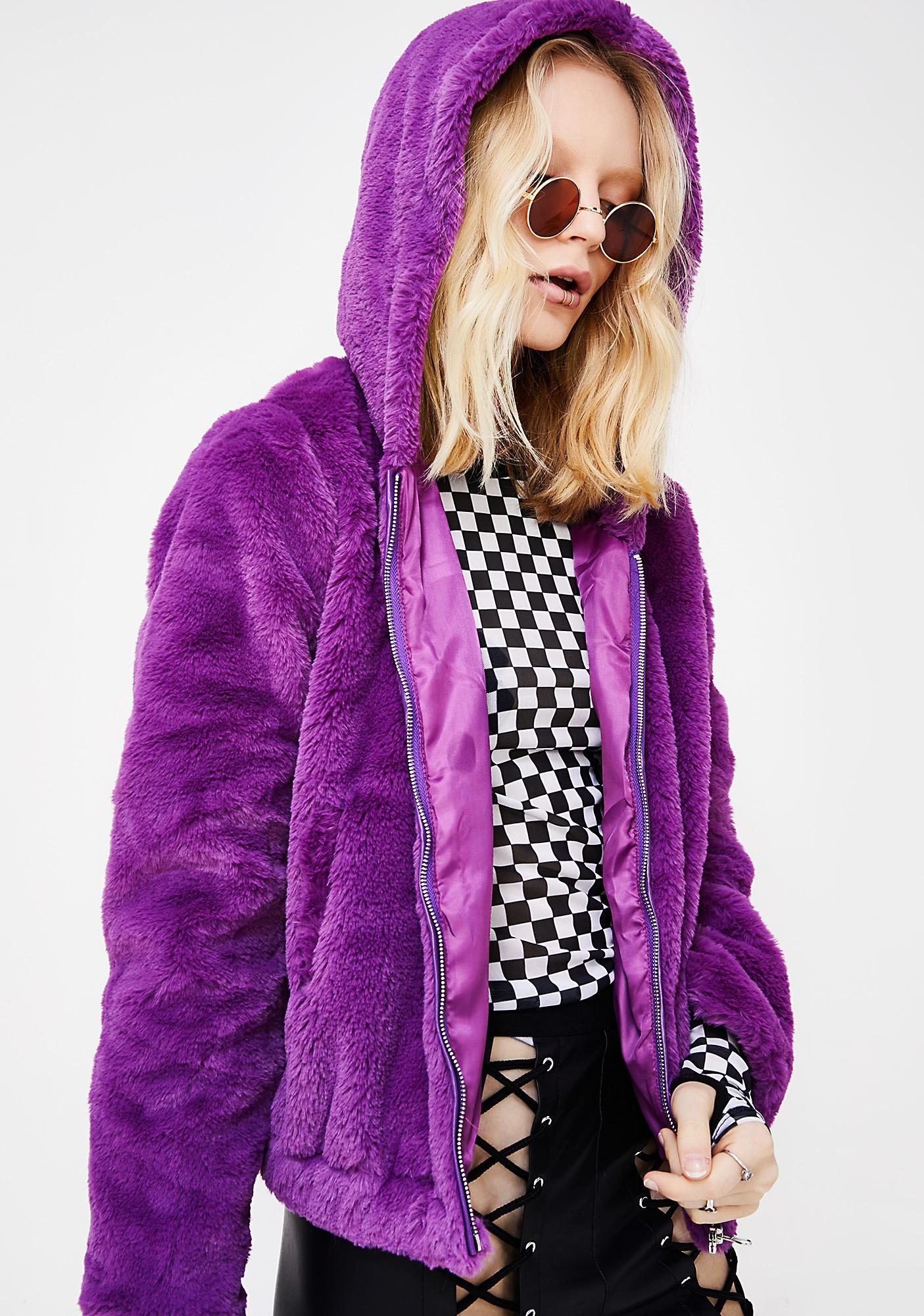 Violet Eternal Sunshine Furry Hoodie