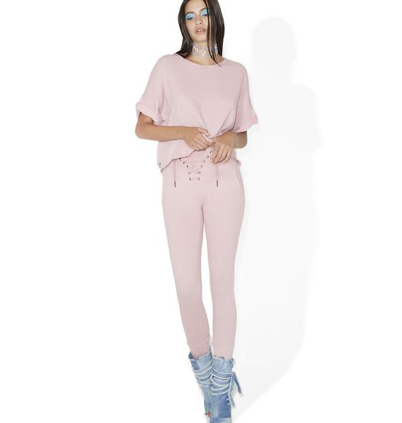 Time Of Your Life Lace-Up Joggers