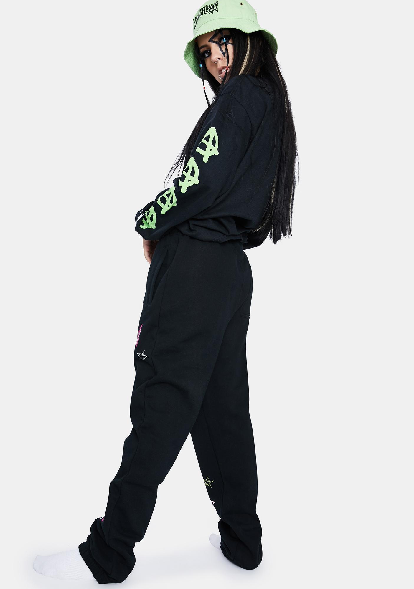 HUF Black Kei Fleece Pant