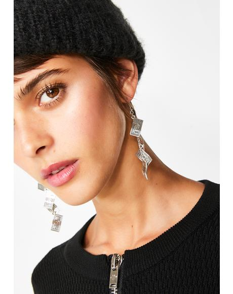 Money N' Go Dangle Earrings