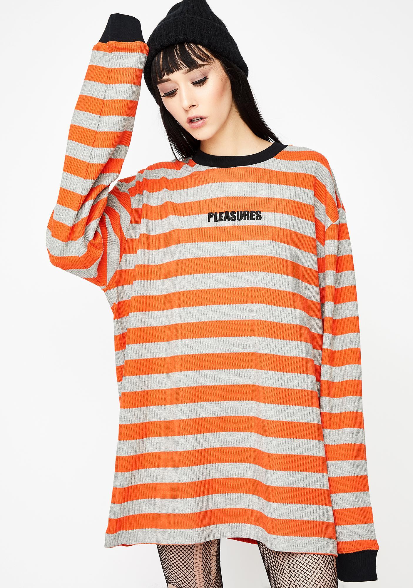 c3e9024a67 Pleasures Parade Waffle Knit Long Sleeve Shirt | Dolls Kill