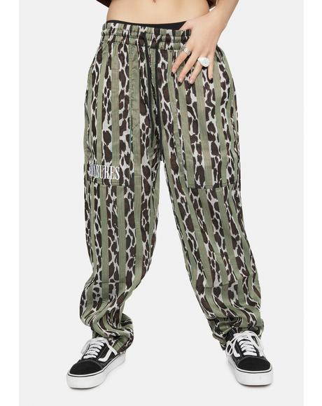 Bloom Leopard Striped Beach Pants