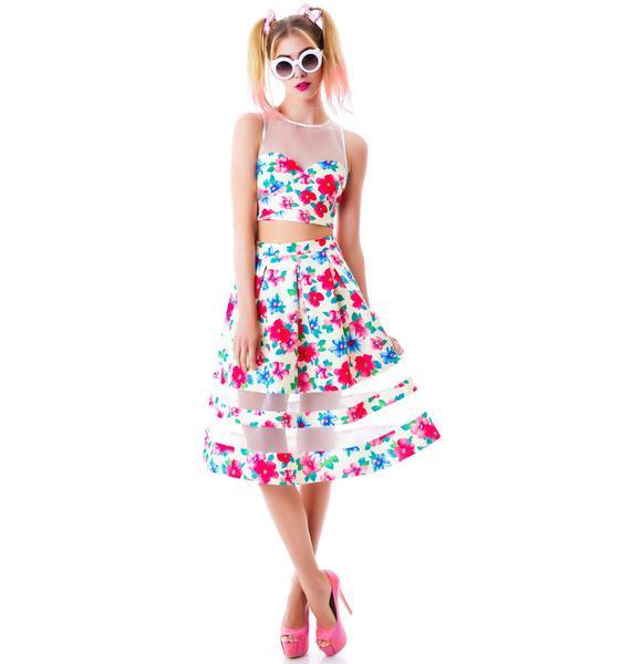 Fresh Flora Skirt Set