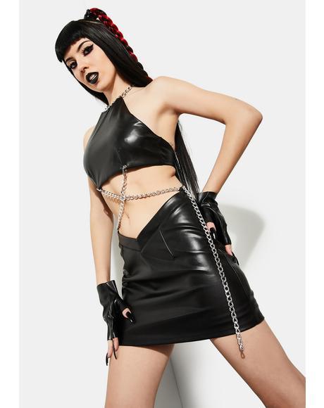 Rage Within Chain Skirt Set