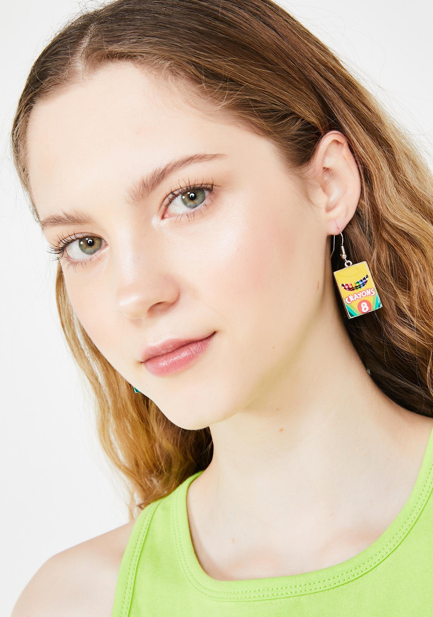 Get Ur Cray-On Earrings