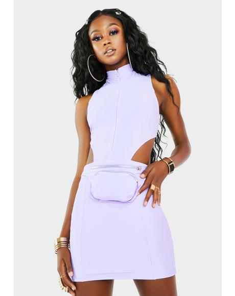 Amethyst No Negotiations Fanny Pack Dress