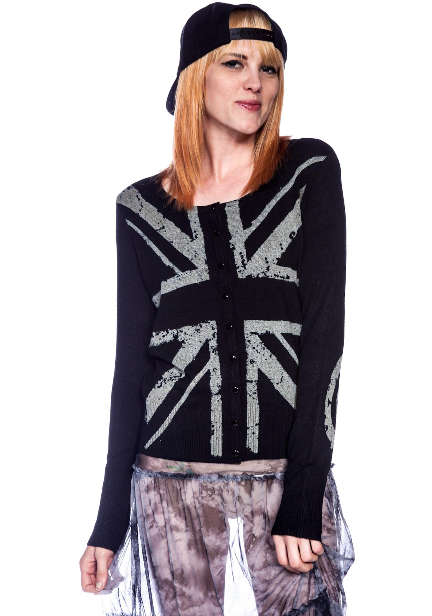 Too Fast UK Bleach Cardigan