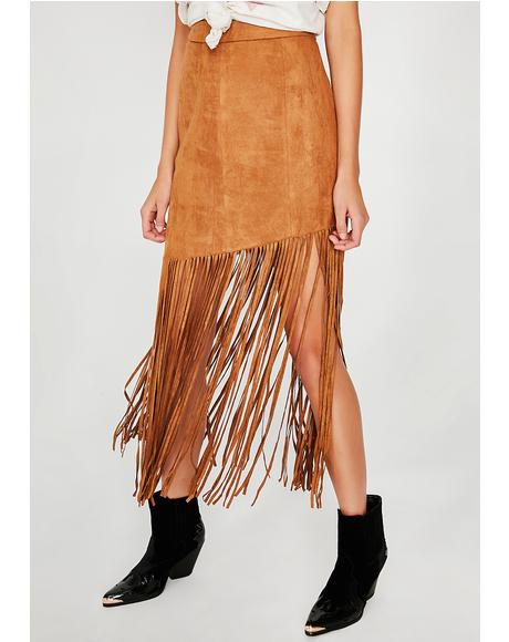 Headline Hunnie Fringe Skirt