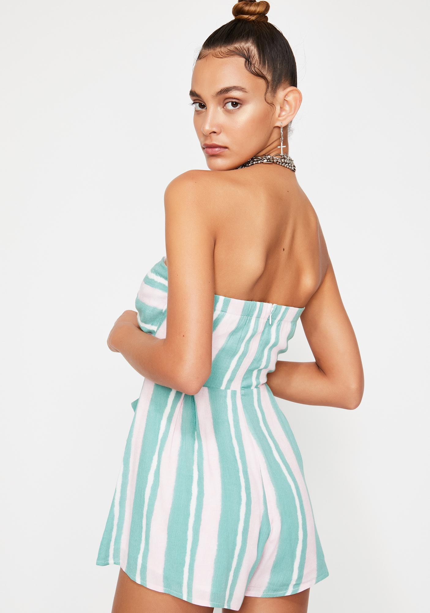 Palm Springs Striped Romper