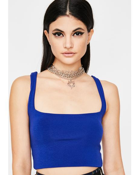 Cobalt Fierce Flex Crop Top