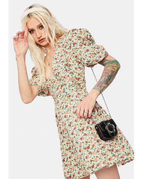 Hillside Hopes Floral Mini Dress