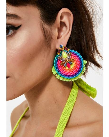 Totally Technicolor Neon Earrings