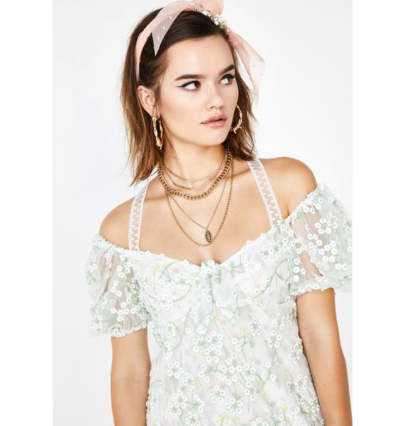 For Love & Lemons Eclair Mini Dress