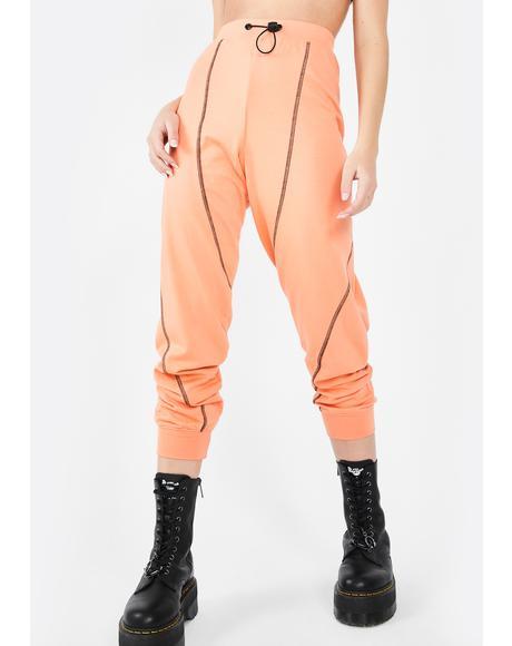 Contrast Stitch Jogger Pants