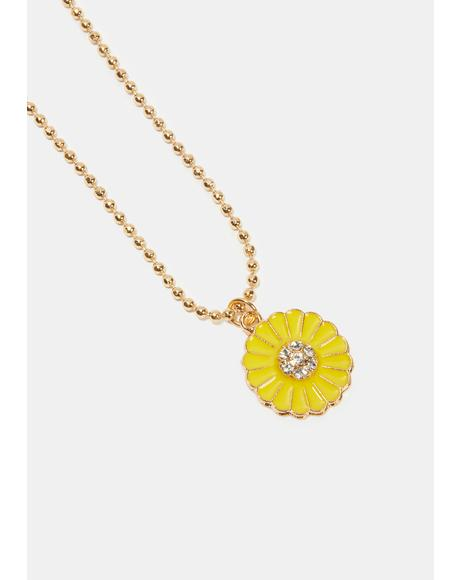 Catching Sun Sunflower Necklace
