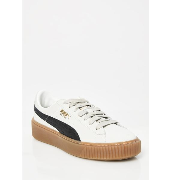 PUMA Whisper Suede Platform Core Sneakers