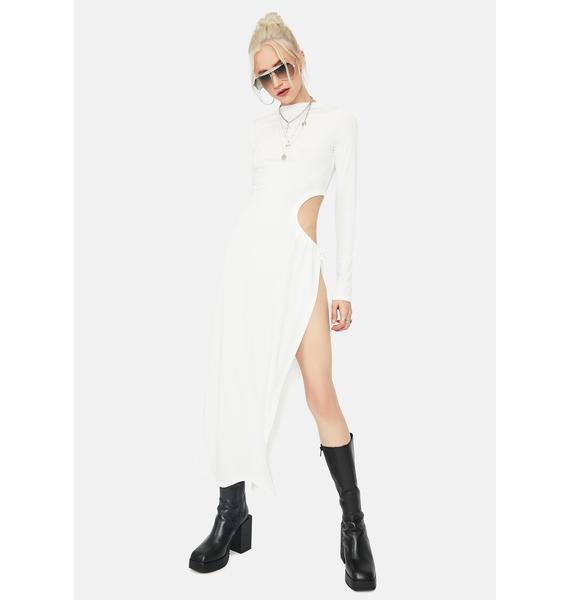 Vibe With Me Side Slit Cutout Maxi Dress
