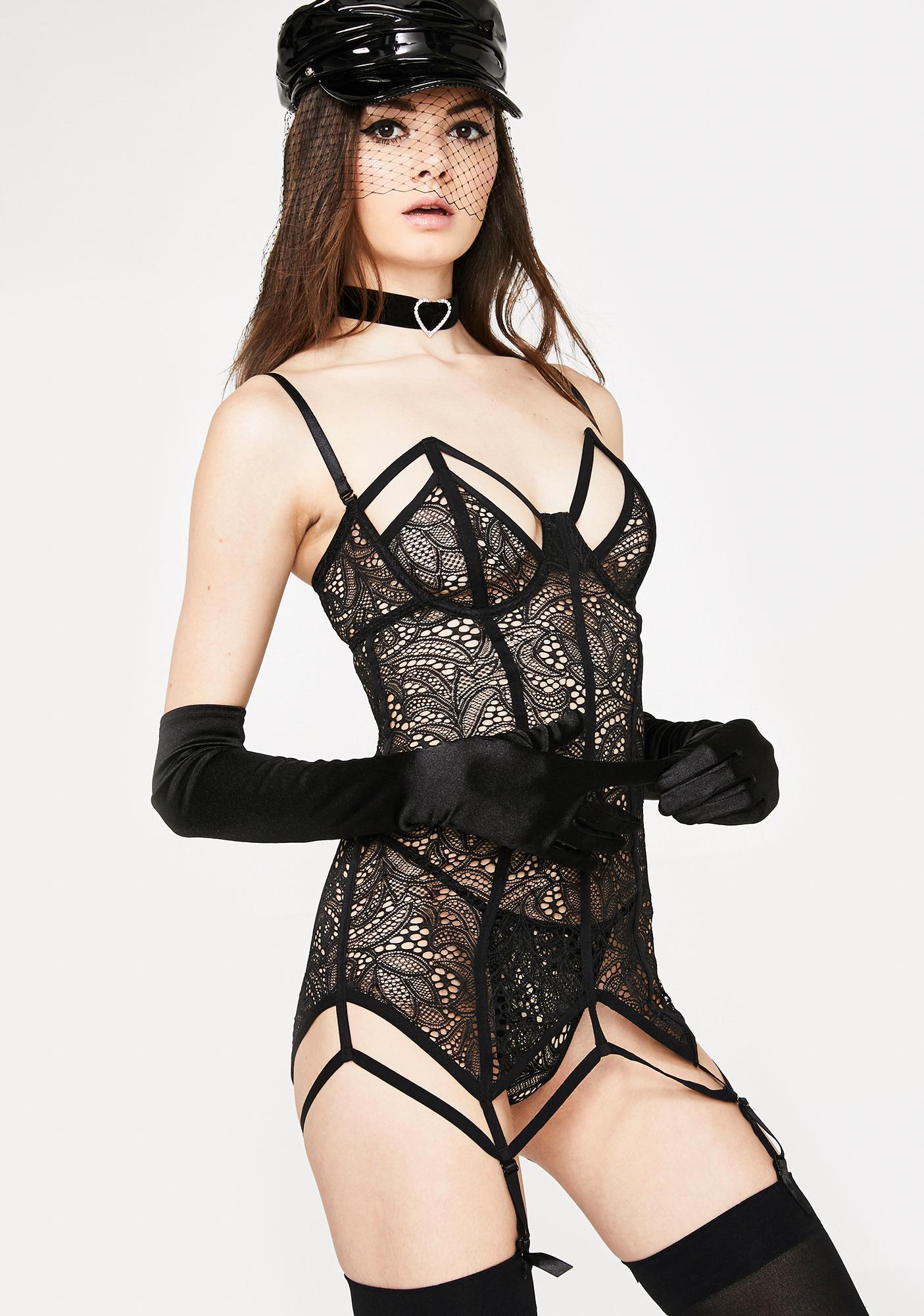 82095b9ca4ce Lace Slip Garter Dress | Dolls Kill