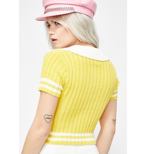 Sunny Cupcake Kisses Polo Sweater