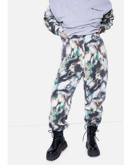 Curve Mottled Fleece Joggers