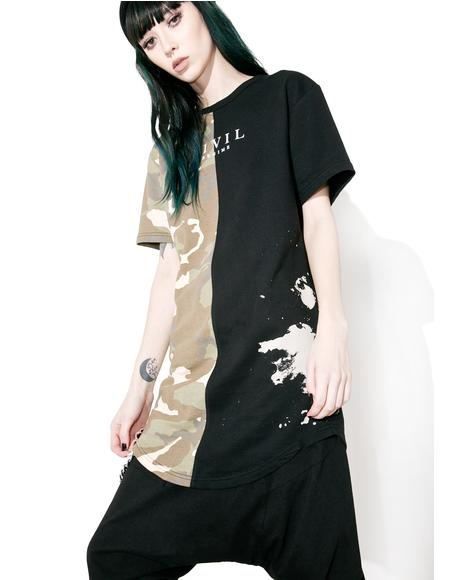 AK Camo Split Drop Tee