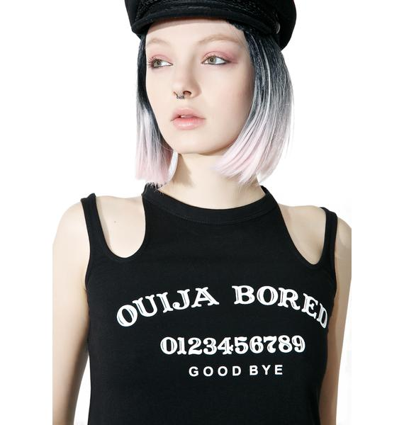 Disturbia Bored Cut-Out Crop Top