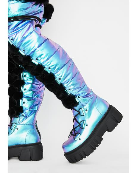 Space Bae Escapade Thigh High Boots