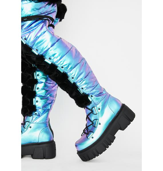 Club Exx Space Bae Escapade Thigh High Boots