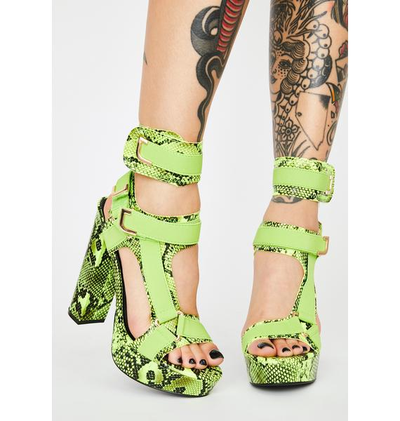 Slime Vile Ready For Takeoff Strappy Heels