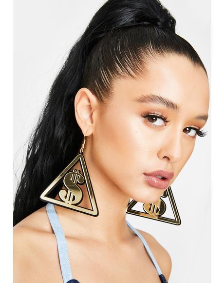 Lottery Livin' Acrylic Earrings